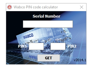 Meritor Wabco PIN1 PIN2 Code Calculator