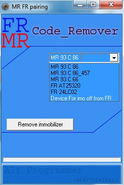 Mercedes Benz MR FR Code Remover
