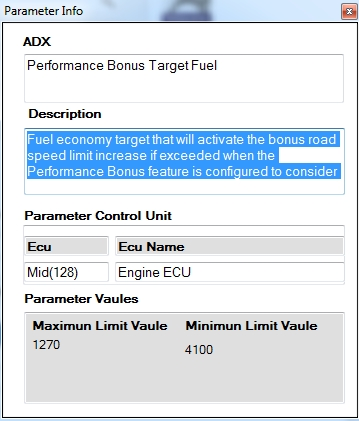Volvo Tech Tool Parameter Description V2