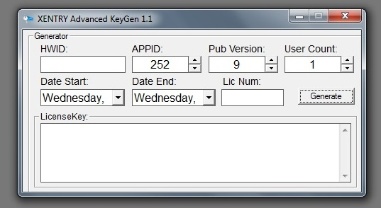 Xentry long Key Keygen